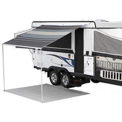 "Picture of Carefree Campout Black/Gray Vinyl 11' 6""L X 8' 2""Ext Adj Pitch Manual Bag Awning 981388D00 00-1020"