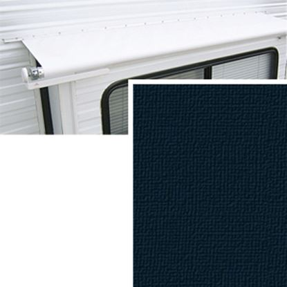 "Picture of Carefree  11' 1"" w/ 42"" Ext Solid Black Denim Vinyl Slide Out Awning Fabric DG1336242 00-1444"