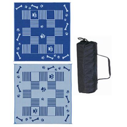 Picture of Ming's Mark  Blue/ White Polypropylene Reversible Camping Mat w/ Storage Bag DA3 01-5021