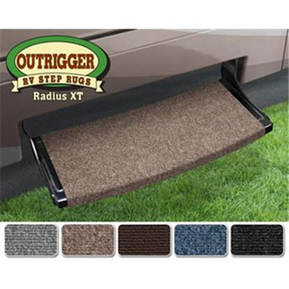 """Picture of Prest-o-Fit Outrigger (R) Atlantic Blue 22"""" Radius XT Entry Step Rug 20382 04-0298"""