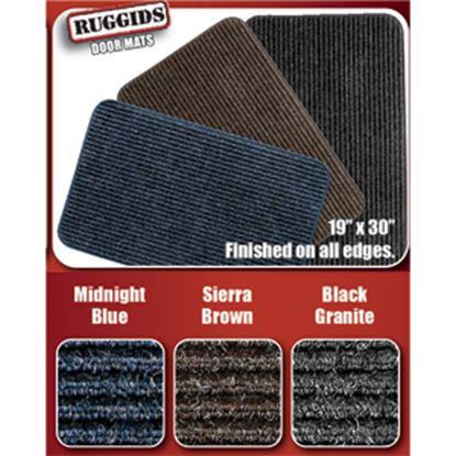 """Picture of Prest-o-Fit Ruggids (TM) Black Granite 19"""" x 30"""" Indoor Door Mat 2-0450 04-0440"""