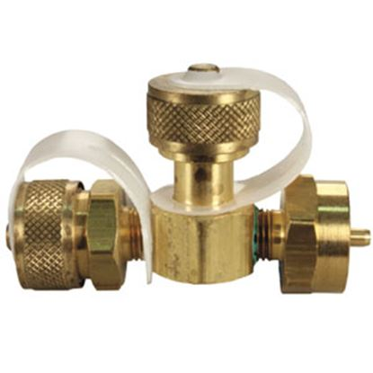 """Picture of JR Products  1"""" -20 FCT x 1""""-20 MCT x 1""""-20 MCT Tee Style LP Adapter Fitting 07-30155 06-0068"""