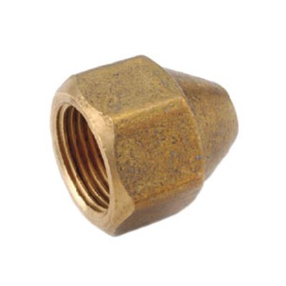 "Picture of Anderson Metal LF 7441S Series 7/16""-20 Brass Fresh Water Lead Free Short Fitting Nut 704014-04 06-1209"