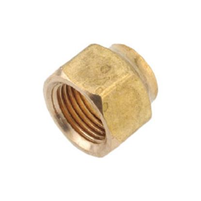 "Picture of Anderson Metal LF 76401S Series 3/4""-16 Brass Fresh Water Lead Free Short Fitting Nut 704018-08 06-1215"