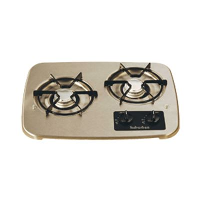 Picture of Suburban  Black 2-Burner Match Light Drop-In Cooktop 2937ABK 07-0328
