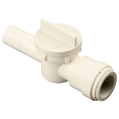 "Picture of Sea Tech 35 Series 1/2"" CTS Male Stem x 1/2"" Female Quick CTS Polysulfone Straight Stop Valve 013543-10 10-0307"