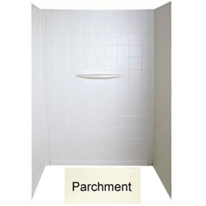 "Picture of Better Bath  1-Piece Parchment 24""L x 36""W x 62""H Shower Surround 209463 10-1781"