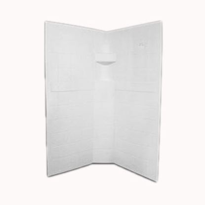 """Picture of Specialty Recreation  3-Piece White 32"""" x 32"""" x 67"""" Neo Angle Shower Surround NSW3232W 10-1886"""