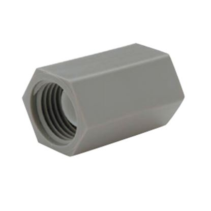 "Picture of QEST Qicktite (R) 1/2"" FPT Gray Acetal Fresh Water Straight Fitting  10-3120"