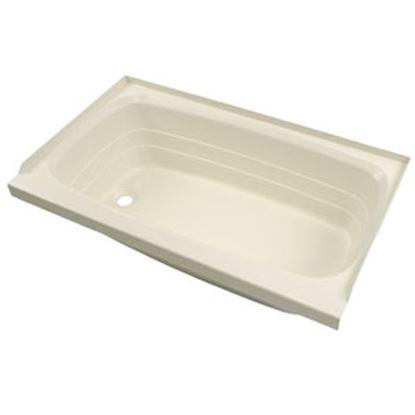 """Picture of Better Bath  Parchment 24""""x36"""" LH Drain ABS Standard Bathtub 209372 10-5731"""