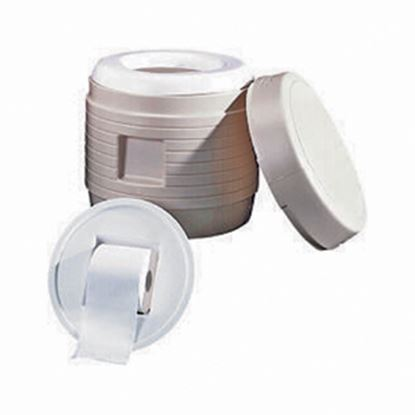 Picture of Reliance Products Hassock Hassock Black w/ White Seat Portable Toilet 9844-21 12-0125