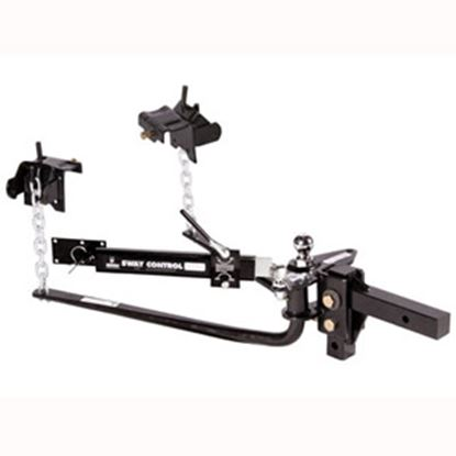 "Picture of Husky Towing  1200 Lb Round Bar Weight Distribution Hitch w/10"" Shank & 2-5/16"" Ball 30849 14-1256"
