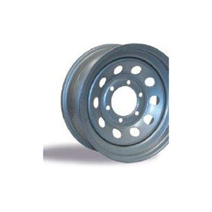 """Picture of Americana  15"""" x 5"""" 5-Lug Starlight Silver Trailer Wheel 20427 17-0041"""