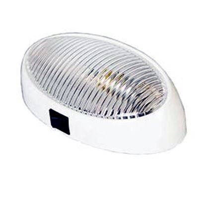 Picture of Arcon  Clear Lens Oval Porch Light w/Switch 51252 18-0836