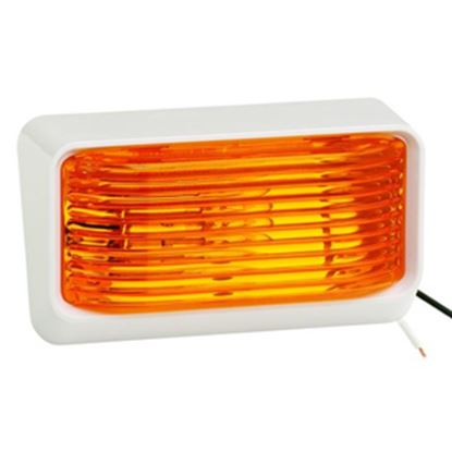 Picture of Bargman 78 Series Amber Lens Porch Light, B/W Base 31-78-532 18-1055