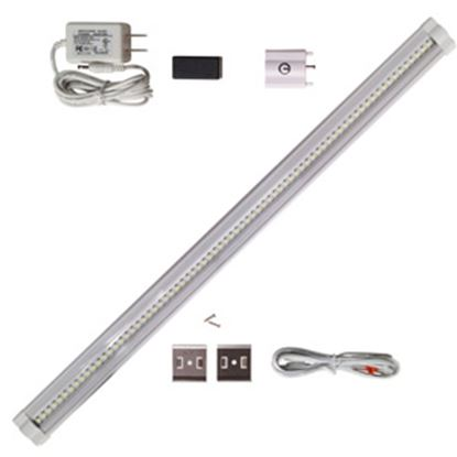"""Picture of Diamond Group  Single 18""""Lx3""""Wx1-1/5""""D White 0.21 Amps/ 12 Volts Under Counter LED Light w/Switch 52631 18-5029"""