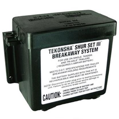 Picture of Tekonsha  Black Trailer Breakaway Lead Acid Battery Box 2051 19-0756
