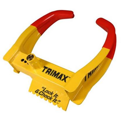 """Picture of Trimax Locks  Lock it and Chock it!"""" Wheel Chock Lock TCL65 20-0420"""