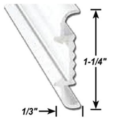 "Picture of AP Products  1-1/4""W x 1/3""T x 16'L Aluminum Insert Molding Trim 021-56403-16 20-6965"