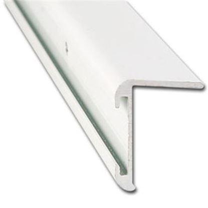 "Picture of AP Products  31/32""W x 16'L x 1-1/4""H Aluminum Long Leg Insert Corner Trim 021-85203-16 20-6984"
