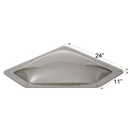 "Picture of Icon  4""H Bubble Dome Neo Angle Smoke PC Skylight w/11"" X 24"" Flange 12114 22-0038"