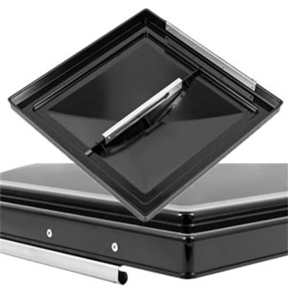 """Picture of Camco  Black Polycarbonate 14"""" x 14"""" Ventline Style Roof Vent Lid 40178 22-0431"""