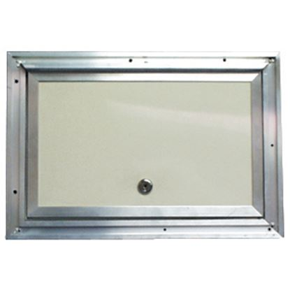 "Picture of Interstate Metal  Colonial White Anodized Aluminum 18"" X 18"" Baggage Access Door 22-0613 22-0613"