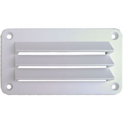 """Picture of Leisure Time  White ABS 3""""L X 5""""W Rectangular Wall Vent DV35W 22-3551"""