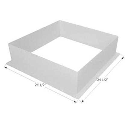 Picture of Icon  White ABS Plastic Square Skylight Trim Ring 12213 22-6243