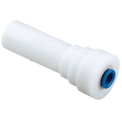 "Picture of Sea Tech 24 Series 1/2"" Male CTS x 1/4"" Female QC OD Tube White Plastic Fresh Water Straight Re 012414-1004 69-7147"