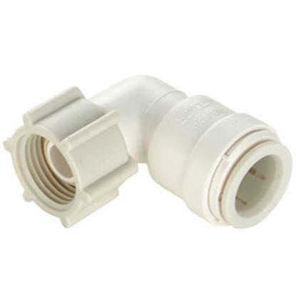 "Picture of Sea Tech 35 Series 1/2"" Fem QC Copper Tube x 3/4"" FNPS Swivel Nut Off-White Polysulfone Fresh W 013520-1012 69-7153"