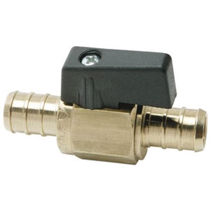 "Picture of BestPEX  1/2"" PEX Brass Straight Ball Valve 41201 69-9019"