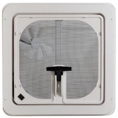 "Picture of Ventline  Smoke 14.25""x14.25"" Polypropylene Frame Roof Vent w/Fan V3094-603-00 71-0023"
